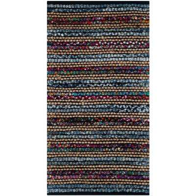 Cape Cod Blue/Multi 3 ft. x 5 ft. Area Rug