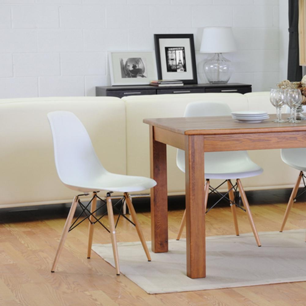 style of wood with molded set eiffel chairs armchair walnut eames daw dark white plastic legs chair dining