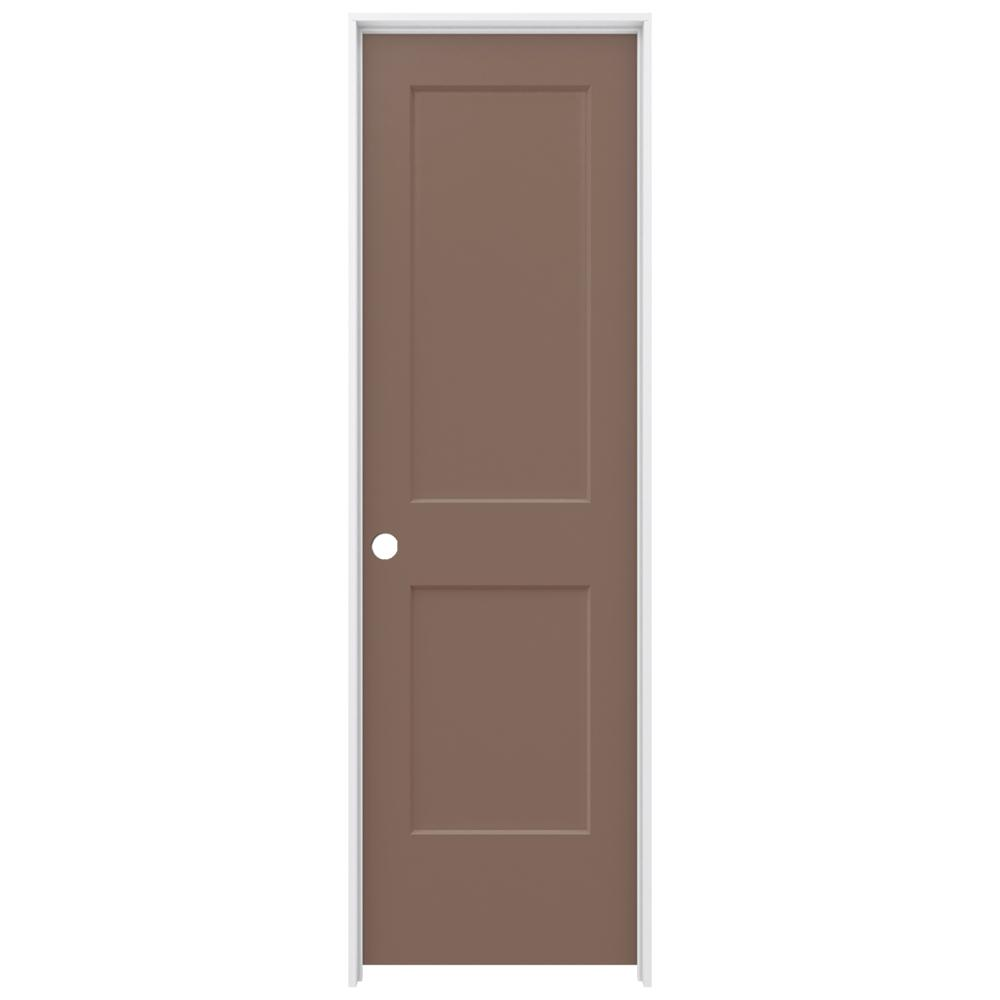 Jeld Wen 24 In X 80 In Monroe Medium Chocolate Right Hand Smooth Solid Core Molded Composite