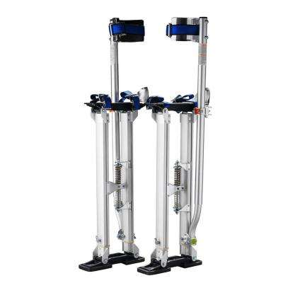 24 in. to 40 in. Adjustable Height Silver Drywall Stilts