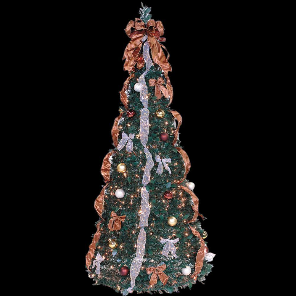 6 Ft. Indoor Pre-Lit Pop-Up Artificial Christmas Tree With