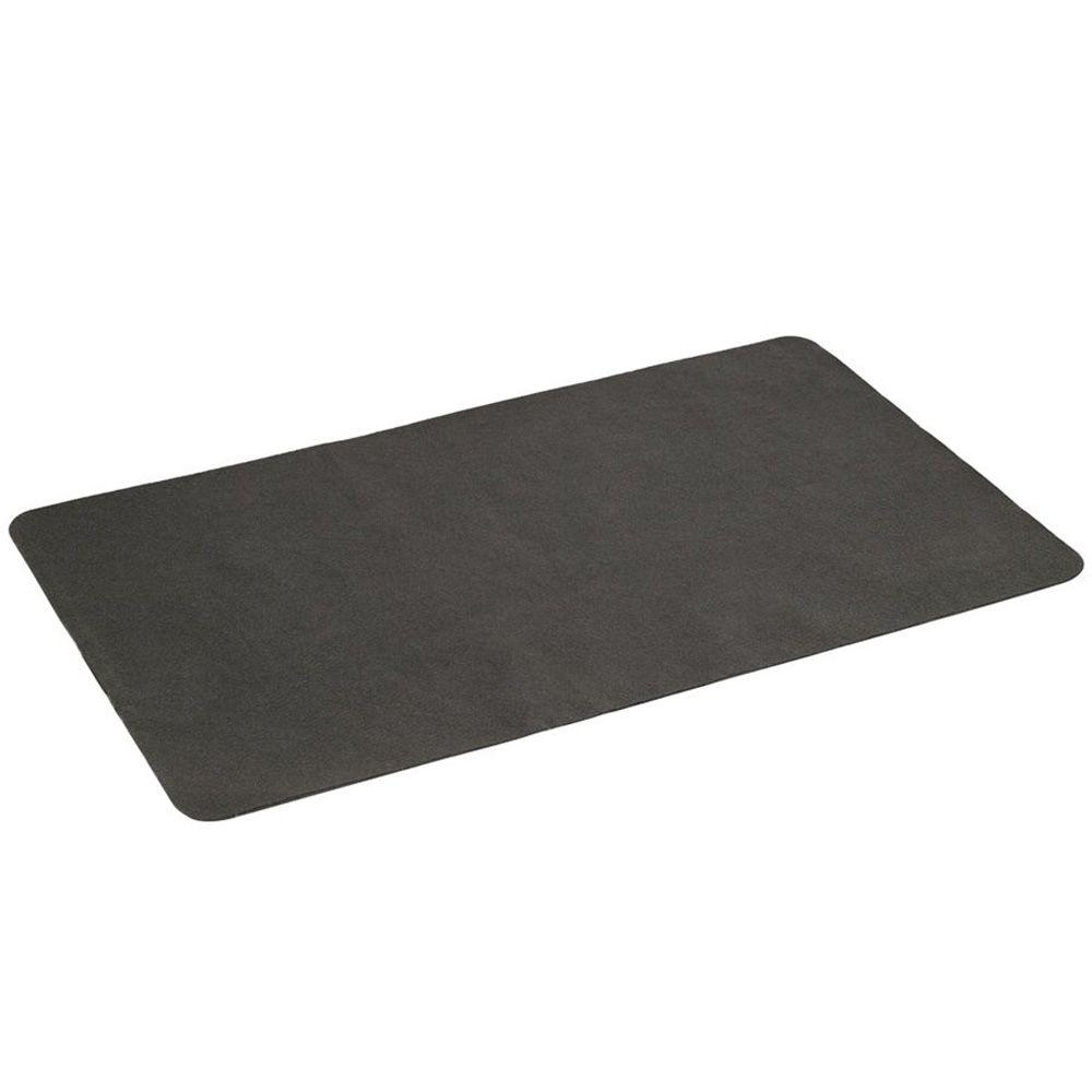 The Gas Grill Splatter Mat 60 in. x 30 in. Pad, Black The Gas Grill Splatter Mat by Diversitech is a high value, low cost solution to those annoying spills and splatters associated with gas grill cooking. This 60 in. x 30 in. pad fits beneath most gas grills, protecting your deck or patio from barbecue related grease and grunge. Sauce and grease stains associated with everyday grilling can be easily cleaned from The Gas Splatter Mat with a grease cutting detergent. Color: Black.