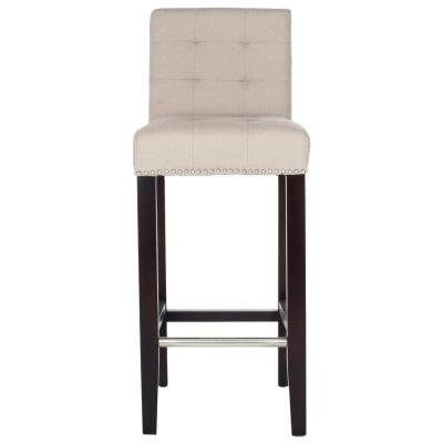 Thompson 30 in. Taupe Cushioned Bar Stool