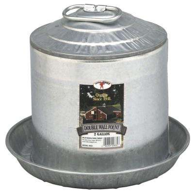 2 gal. Metal Double Wall Poultry Fount