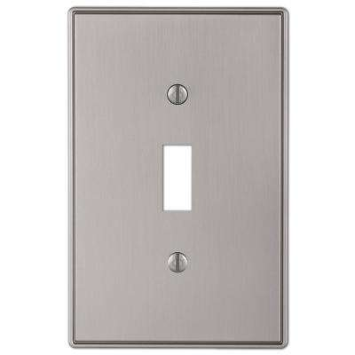 Ansley 1 Gang Toggle Metal Wall Plate - Brushed Nickel