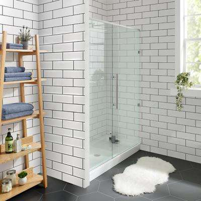 Voltaire 60 in. x 30 in. Acrylic Single-Threshold Center Drain Shower Base in White