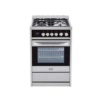 2.0 cu. ft. Gas Freestanding Range with Convection Oven in Stainless Steel