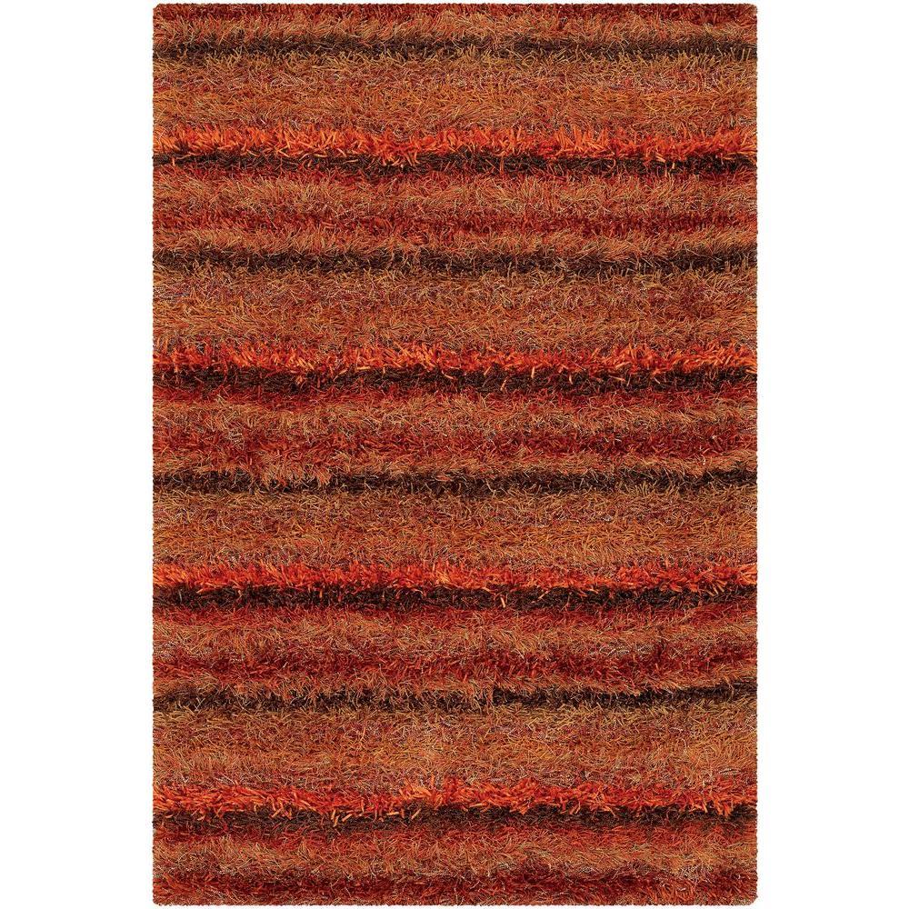 Kubu Red/Orange/Brown 5 ft. x 8 ft. Indoor Area Rug