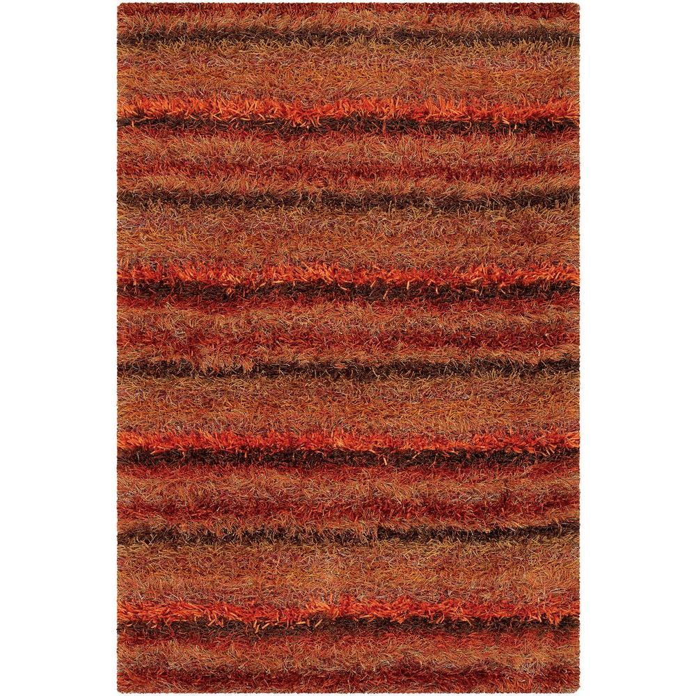 Kubu Red/Orange/Brown 7 ft. 9 in. x 10 ft. 6 in.