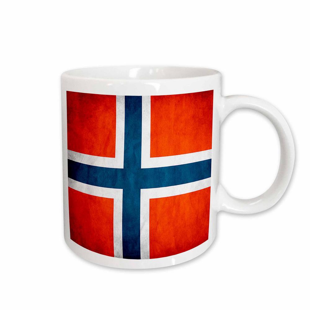 Flags Norway Flag 11 oz. White Ceramic Coffee Mug