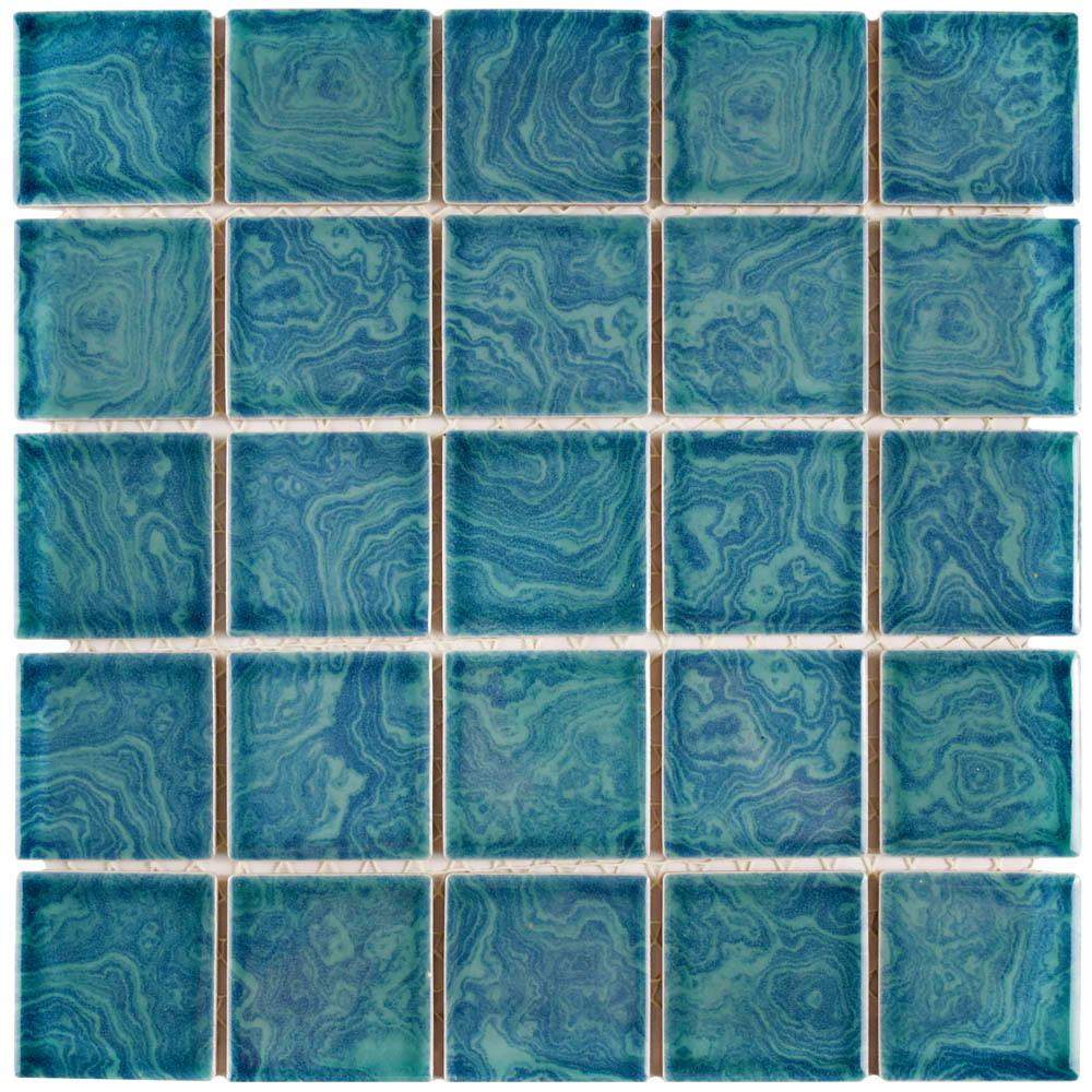 Merola Tile Resort Palm Green 12 In X 5 Mm Porcelain