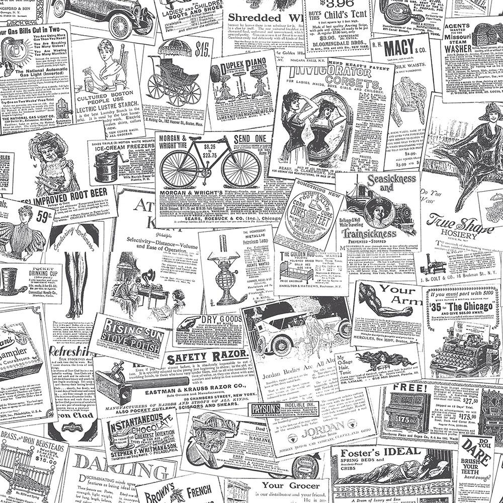 norwall newspaper wallpaper-bk32083 - the home depot
