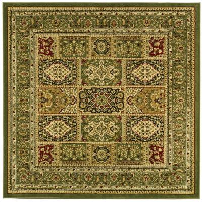 Lyndhurst Multi/Green 6 ft. x 6 ft. Square Area Rug