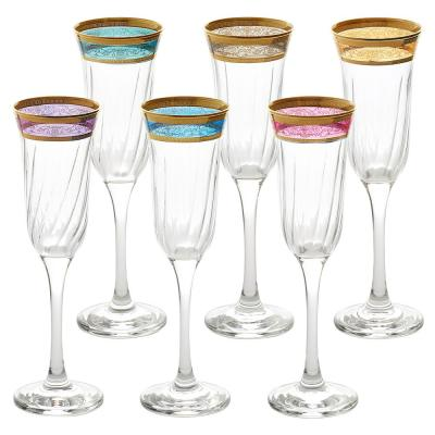 Melania Collection Multicolor Flute (Set of 6)