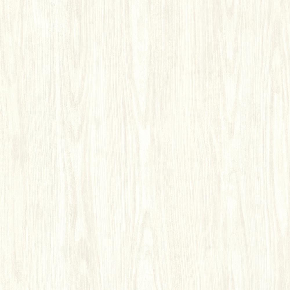 Brewster Ivory Tanice Faux Wood Texture Wallpaper Sample