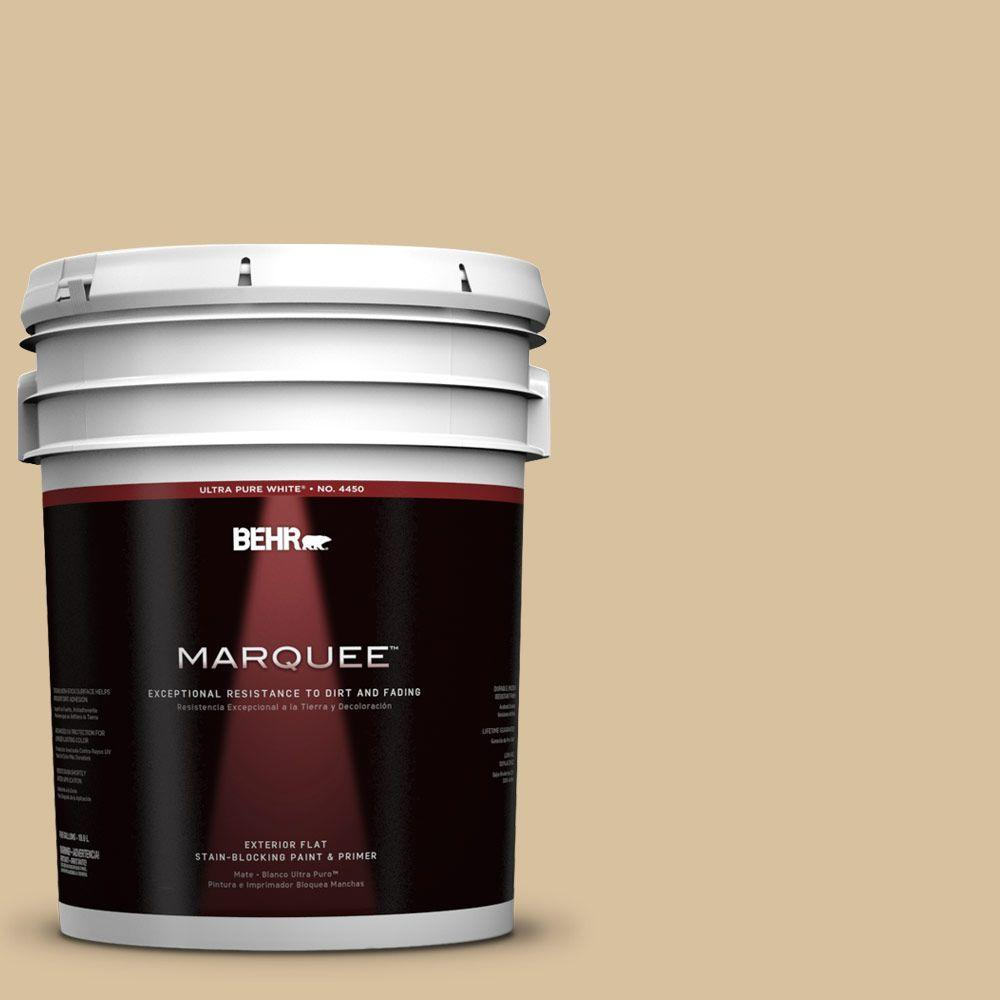 BEHR MARQUEE 5-gal. #UL160-7 Pale Wheat Flat Exterior Paint