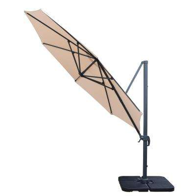 11 ft. Cantilever Patio Umbrella and 4-Piece Fillable Stands