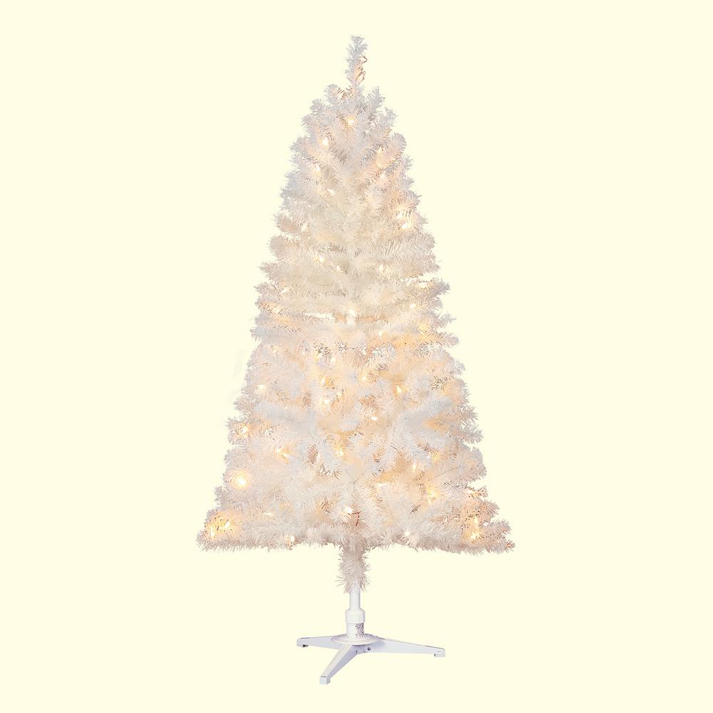 Home Accents Holiday 5 Ft Pre Lit Led Glossy White North Hill
