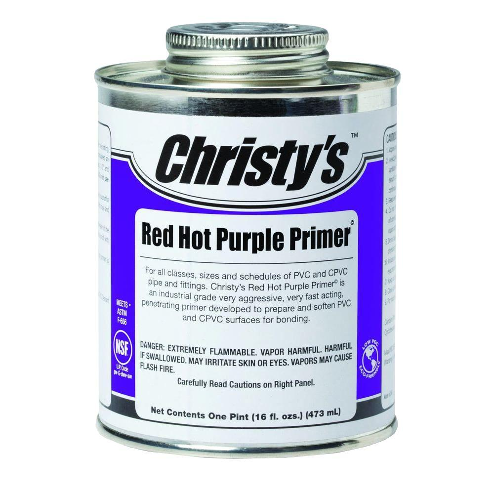 16 oz. Red Hot Purple Primer for PVC CPVC (Case of