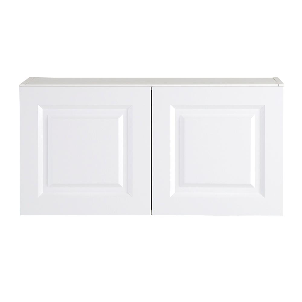 Benton Assembled 30x12.5x15 in. Wall Cabinet in White
