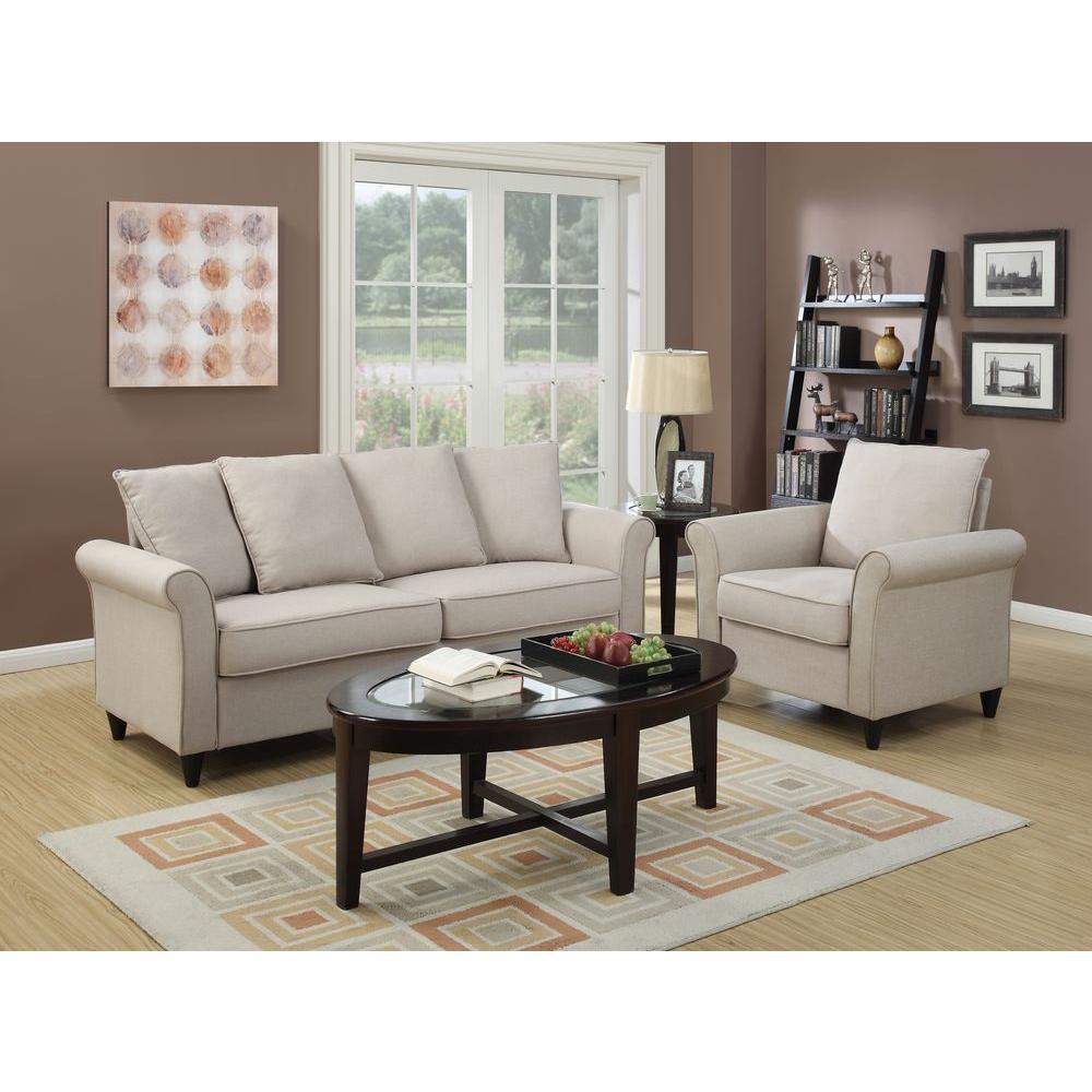 Pulaski Furniture Store: Pulaski Furniture Hayden Beige Polyester Sofa-DS-2636-680