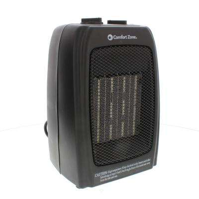 1,500-Watt Ceramic Electric Portable Heater with Thermostat and Fan