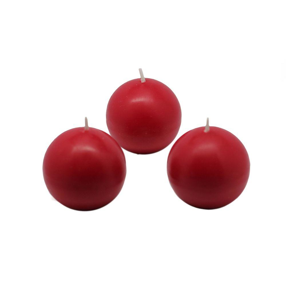 2 in. Red Ball Candles (Box of 12)