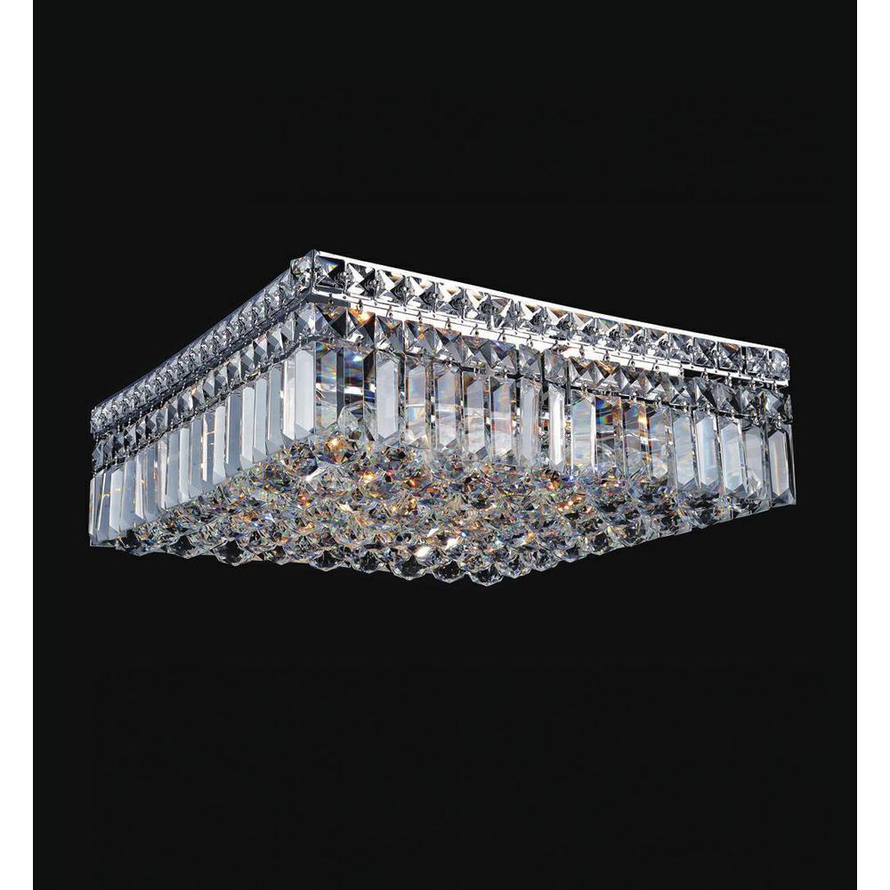 Colosseum 5-Light Chrome Flush Mount