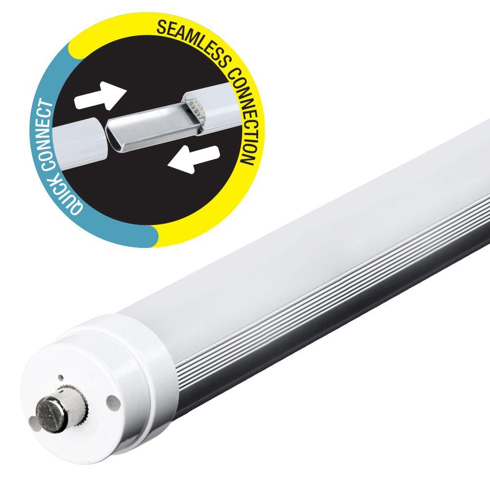 Feit Electric 8 Ft T8 T12 75w Equivalent Cool White 4100k Linear How To Install A Led Fluorescent Tube Bypassing Ballast Leds Light Bulb T96 841 Rp The Home Depot
