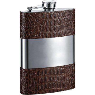 Zarin Handcrafted Brown Leather Liquor Flask