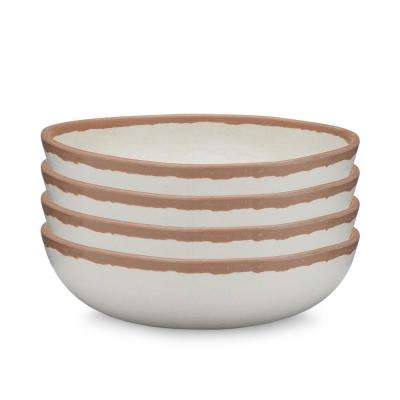 Potter 4-Piece 6.5 in. Terracotta Brown Melamine Bamboo Cereal Bowl Set