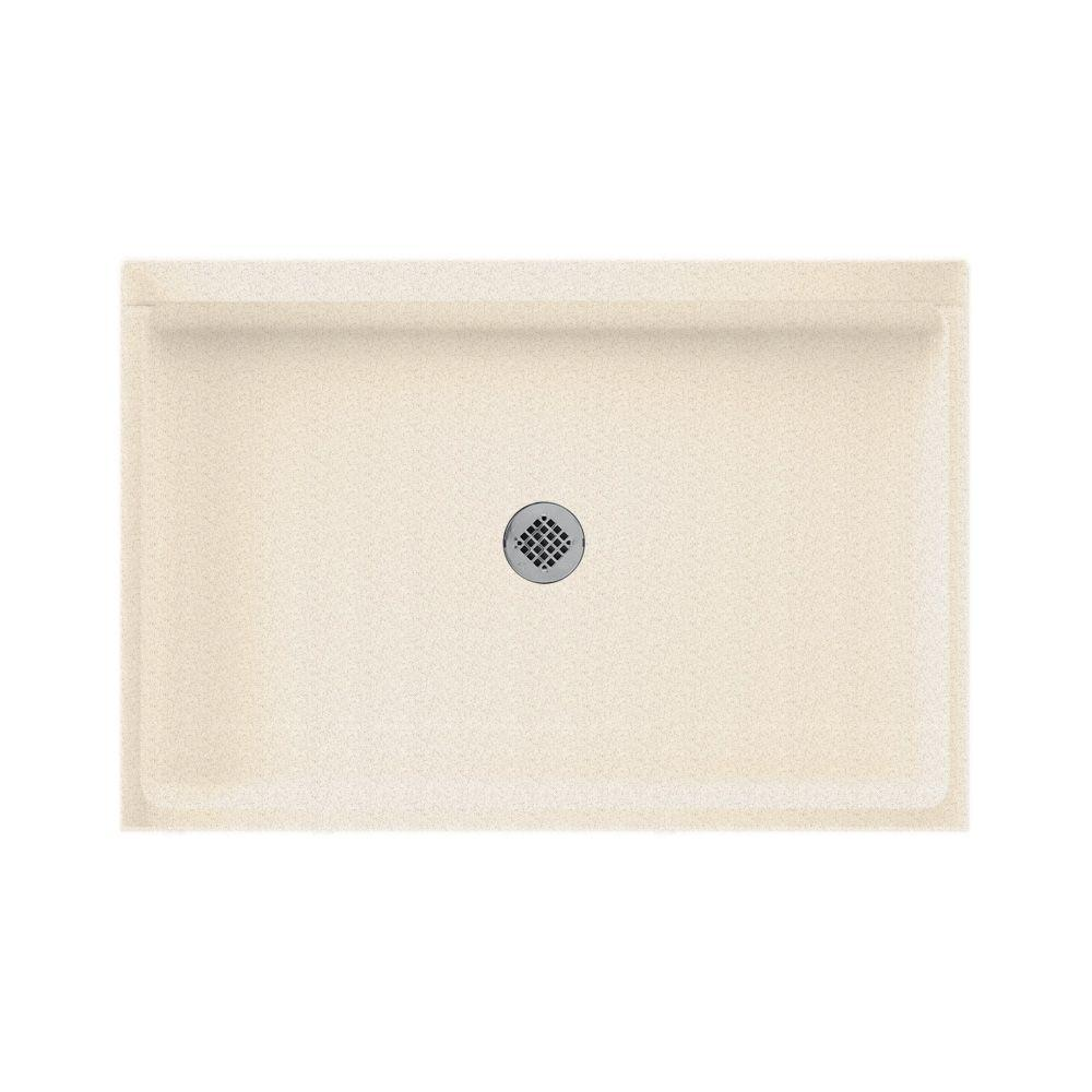 Swanstone 32 in. x 48 in. Single Threshold Shower Floor in Almond Galaxy-DISCONTINUED