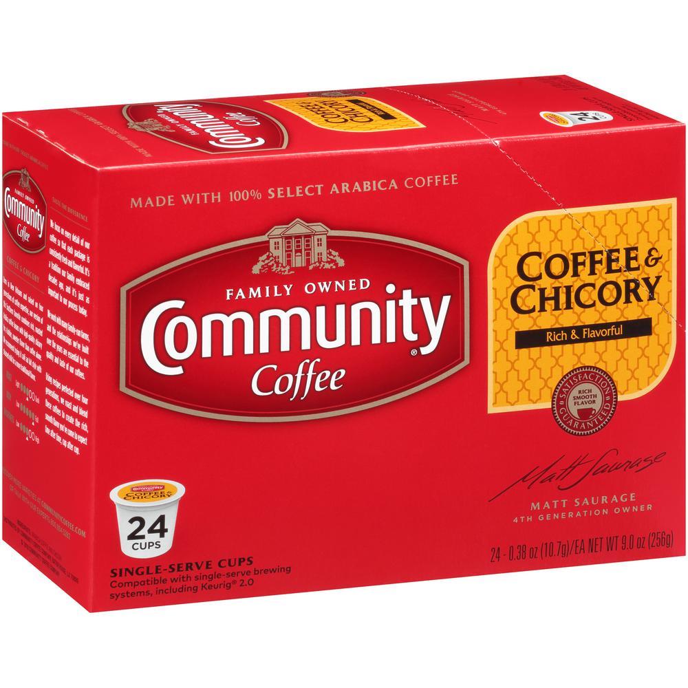 Coffee and Chicory Medium-Dark Roast Coffee Single Serve Cups (96-Pack)