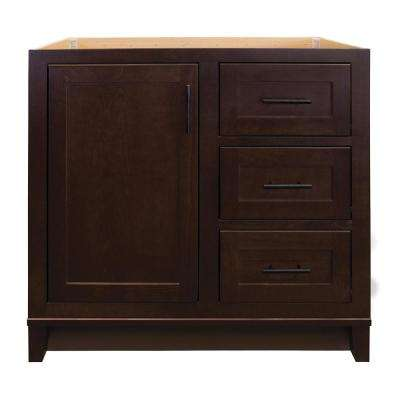 Kinghurst 36 in. W x 21 in. D x 33.5 in. H Bathroom Vanity Cabinet Only in Dark Cognac