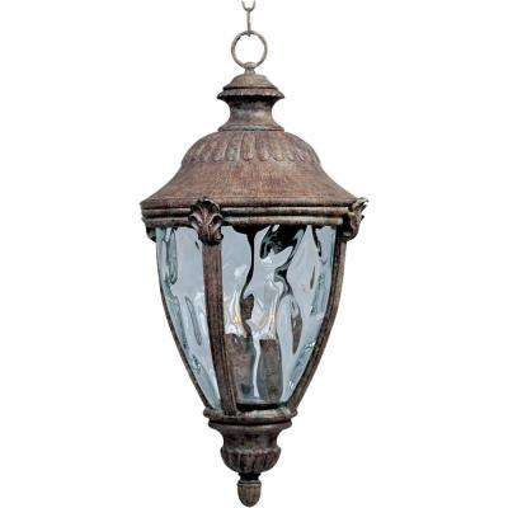 Morrow Bay Die Cast 3-Light Earth Tone Outdoor Hanging Lantern