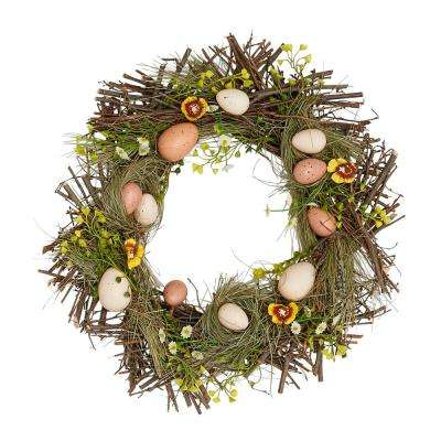 15 in. Nested Egg Wreath