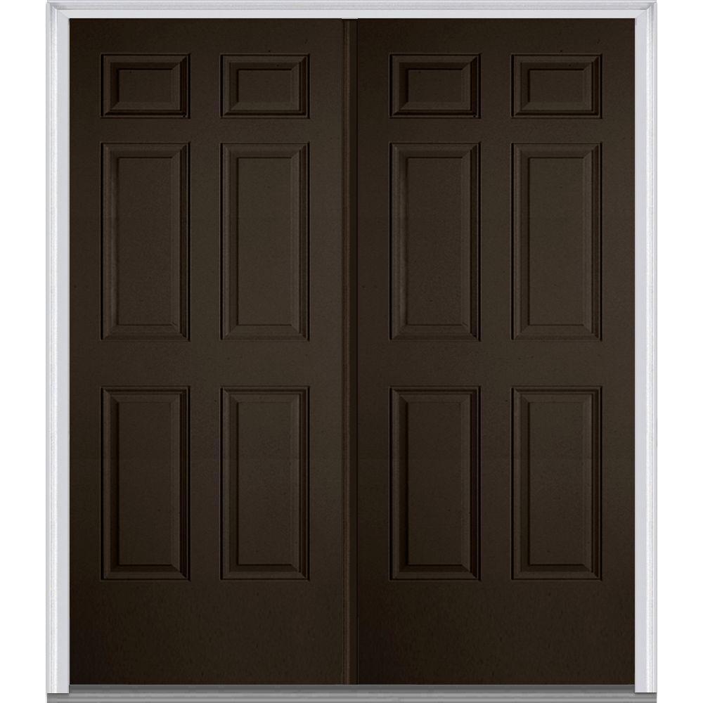 Mmi door 72 in x 80 in left hand inswing 6 panel classic for 72 x 80 exterior door