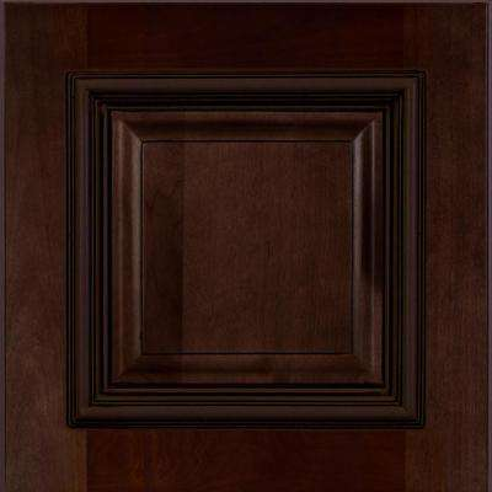 Somerset Assembled 13 x 13 x 0.75 in. Wall Cabinet Sample Door in Manganite Glaze