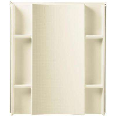 Accord 48 in. W x 74-3/4 in. H 1-Piece Direct-to-Stud Shower Back Wall in White