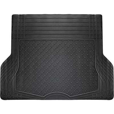 WeatherShield HD Black Heavy Duty Rubber Trunk Cargo Liner Floor Mat Trim to Fit for Car/SUV/Van/Trucks