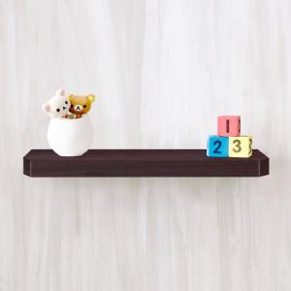 Uniq 23.6 in. W x 1.6 in. D Espresso Wood Grain zBoard  Floating Wall Shelf and Decorative Shelf