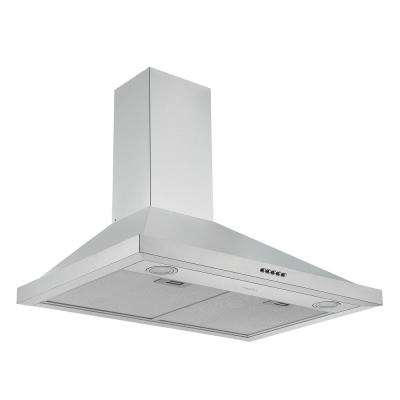 30 in. 280 CFM Convertible Wall Mount Pyramid Range Hood with LED Lights in Stainless Steel