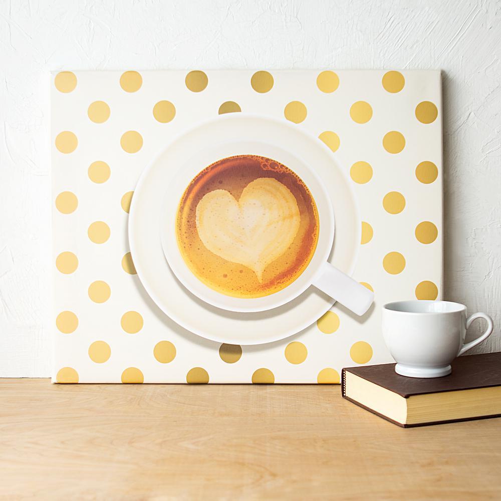 16 in. x 20 in. Espresso Coffee Canvas Wall Art-COF-2109-ST - The ...