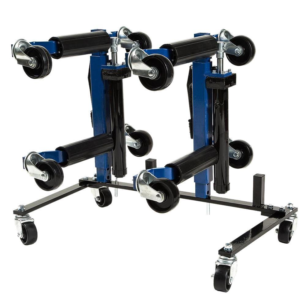 1500 lb. 9 in. Hydraulic Car Wheel Dolly with Stand (4-Pack)