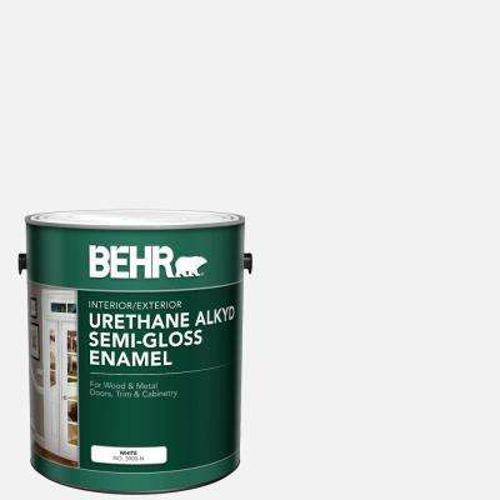 1 Gal. White Alkyd Semi-Gloss Enamel Alkyd Interior/Exterior Paint
