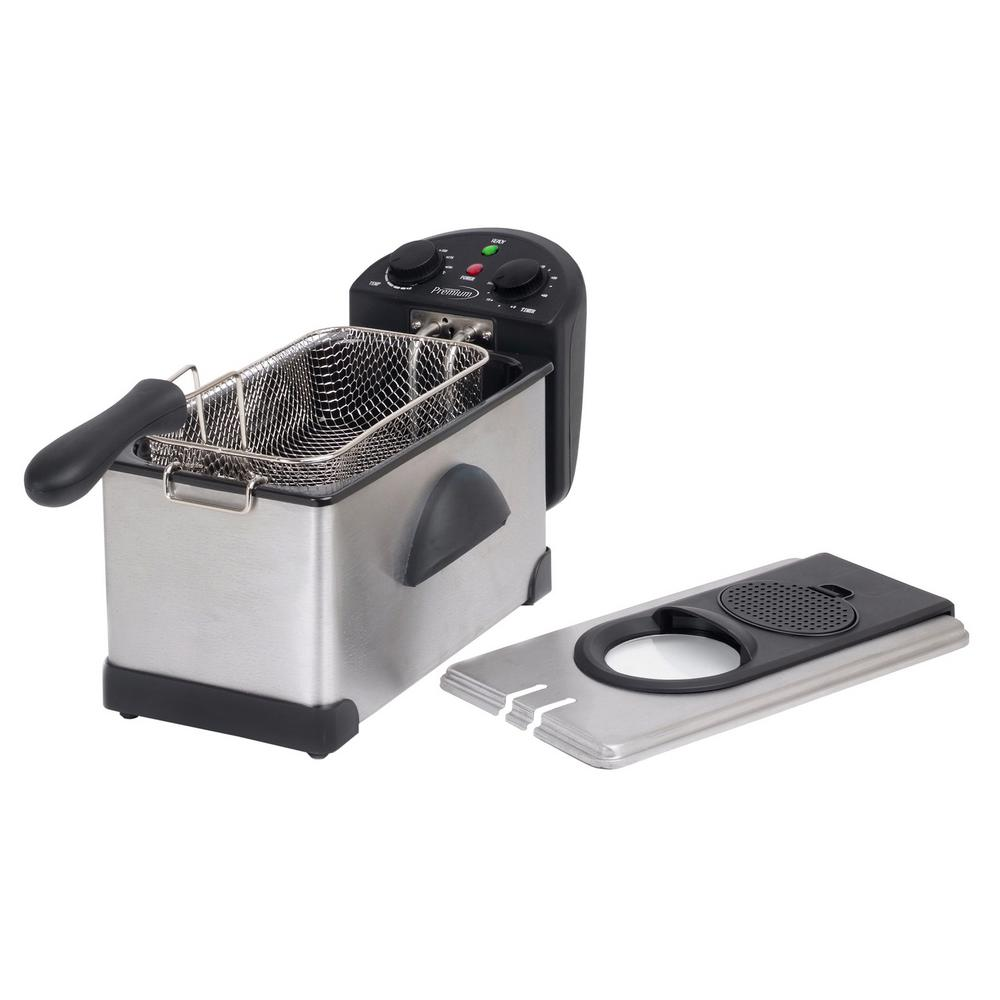 12.5-Cup Stainless Steel Deep Fryer