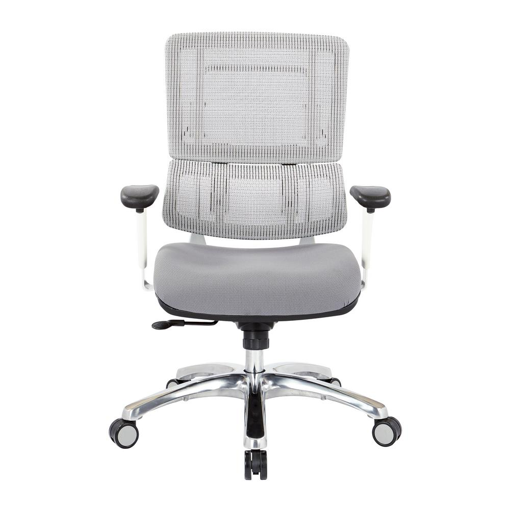 Pro Line Ii Breathable White Vertical Mesh Office Chair 99661w 5811 The Home Depot