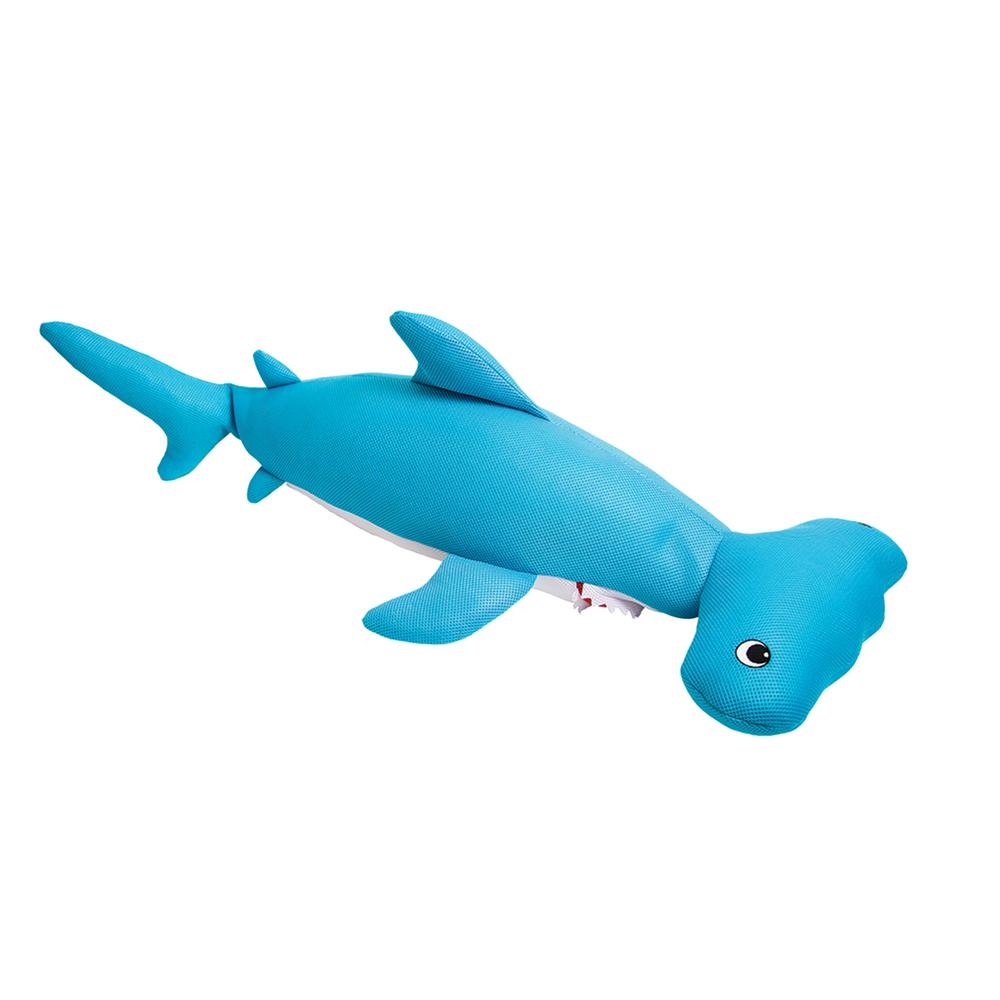 Astounding Blue Wave Hammerhead Shark Bean Bag Float For Swimming Pools In Blue Ocoug Best Dining Table And Chair Ideas Images Ocougorg
