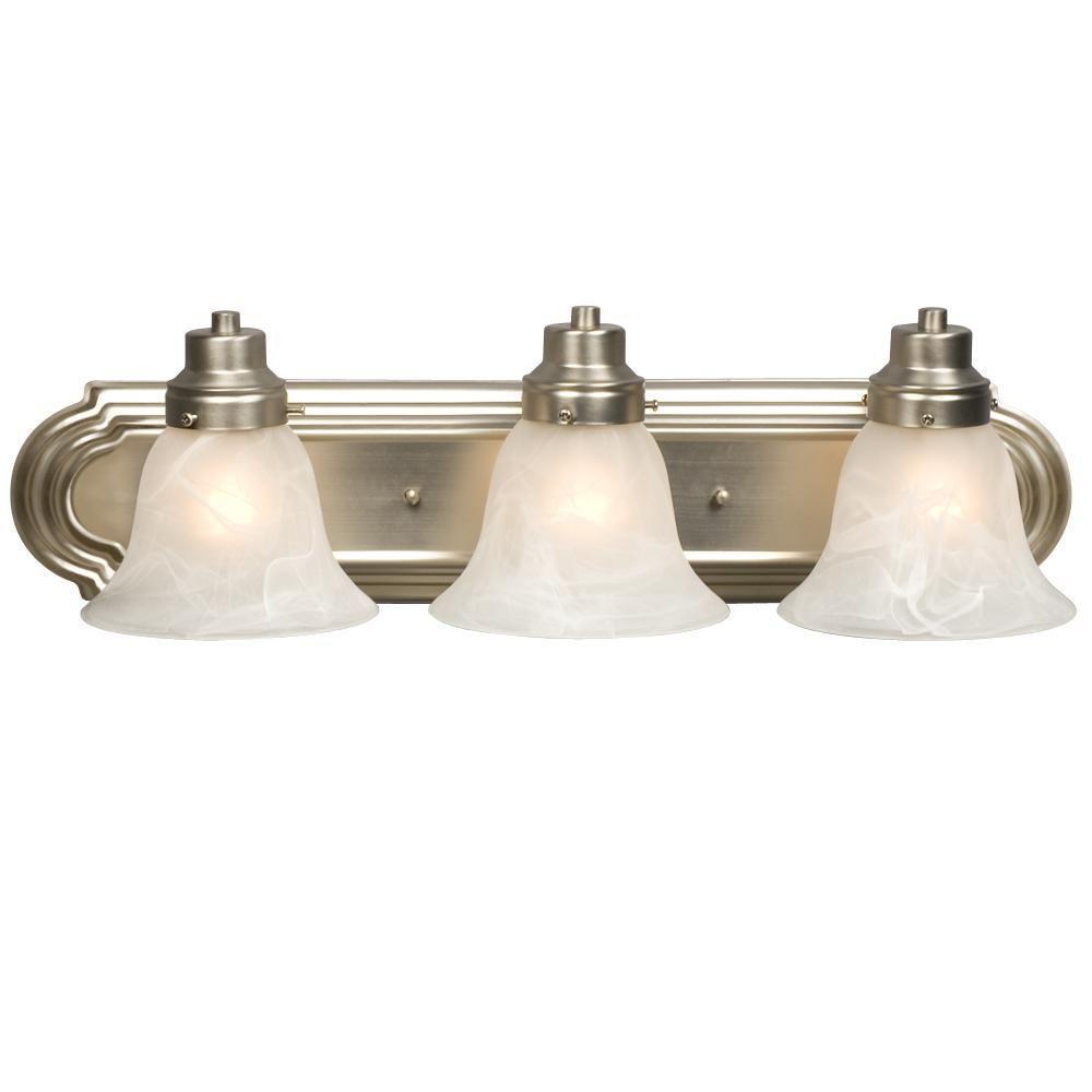 Negron 1-Light Brushed Nickel Incandescent Bath Vanity Light
