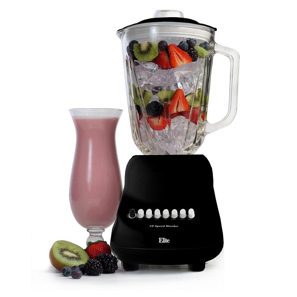 10-Speed Blender with 48 oz. Black Glass Jar
